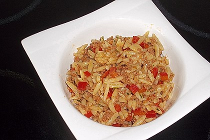 Kritharaki-Salat mit Hackfleisch 22
