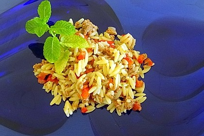 Kritharaki - Salat mit Hackfleisch 10