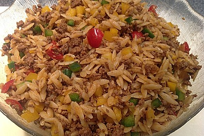 Kritharaki-Salat mit Hackfleisch 20