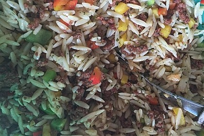 Kritharaki - Salat mit Hackfleisch 19