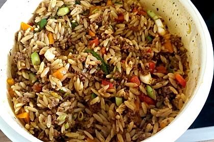 Kritharaki - Salat mit Hackfleisch 6