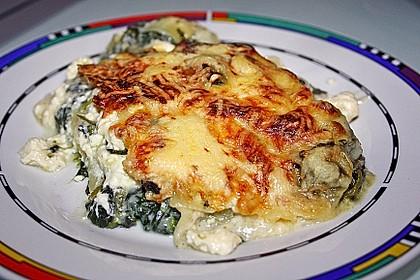 Spinat - Schafskäse - Lasagne 6