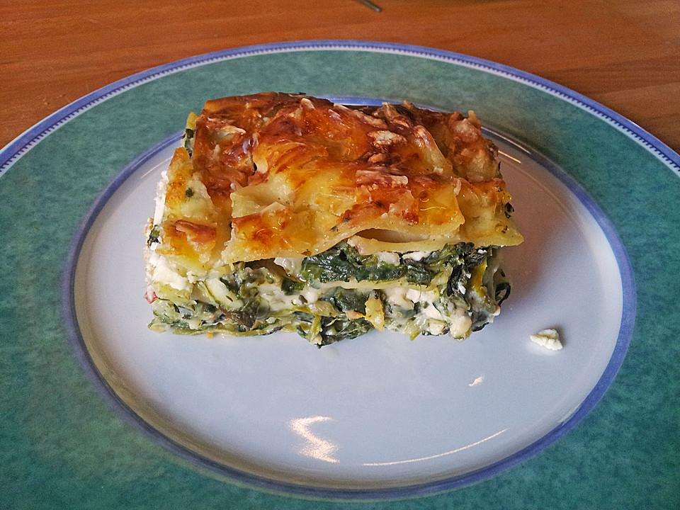 Spinat - Schafskäse - Lasagne (Rezept mit Bild) von ...