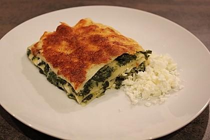 Spinat - Schafskäse - Lasagne 3