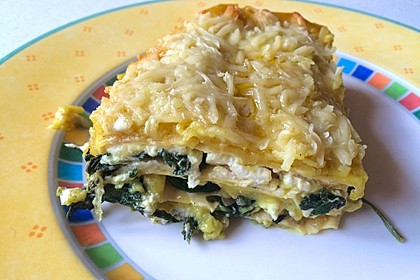Spinat - Schafskäse - Lasagne 34