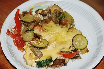 Gemüsepfanne mit Eiern und Käse 18