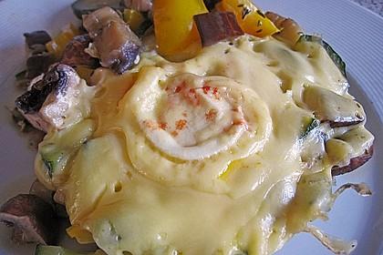 Gemüsepfanne mit Eiern und Käse 12