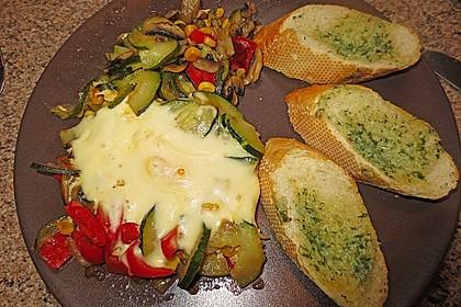 Gemüsepfanne mit Eiern und Käse 7