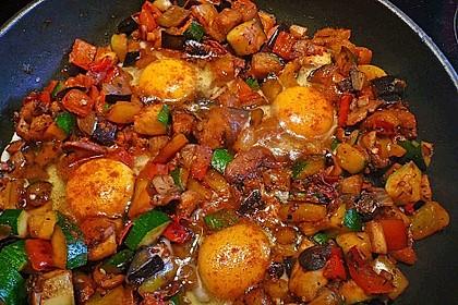 Gemüsepfanne mit Eiern und Käse 8