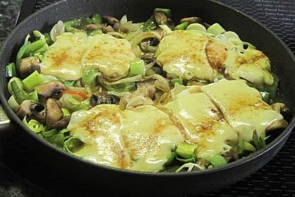 Gemüsepfanne mit Eiern und Käse 6