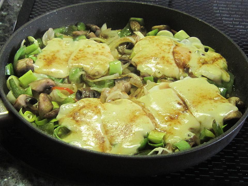 Sommerküche Chefkoch : Gemüsepfanne mit eiern und käse von zickentoni chefkoch