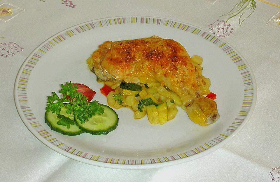 Huhn mit kartoffeln aus dem ofen 2