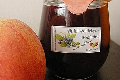 Schlehen - Apfel - Konfitüre