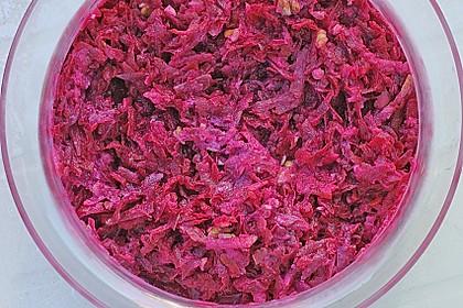 Rote Bete Salat mit Apfel und Walnuss 14