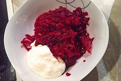 Rote Bete Salat mit Apfel und Walnuss 12