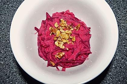 Rote Bete Salat mit Apfel und Walnuss 7