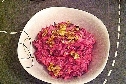 Rote Bete Salat mit Apfel und Walnuss 16