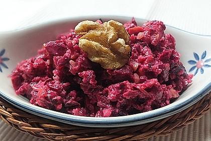 Rote Bete Salat mit Apfel und Walnuss 5