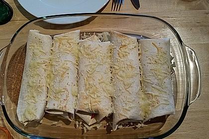 Burrito mit Hackfleisch und Gemüse 2