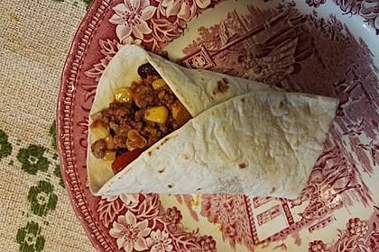 Burrito mit Hackfleisch und Gemüse 4