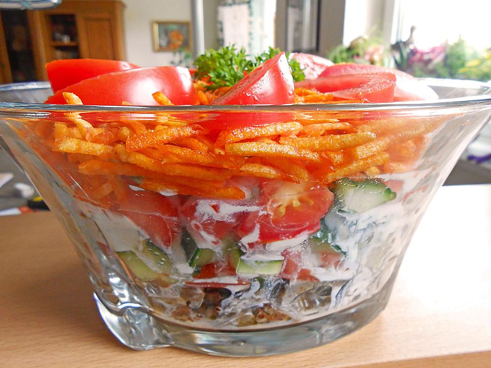 chips salat mit d nerfleisch rezepte. Black Bedroom Furniture Sets. Home Design Ideas