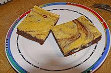 Urmelis Quark - Frischkäse - Brownies schwarz - weiß