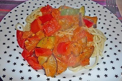 Scharfe Gemüse - Spaghetti 1