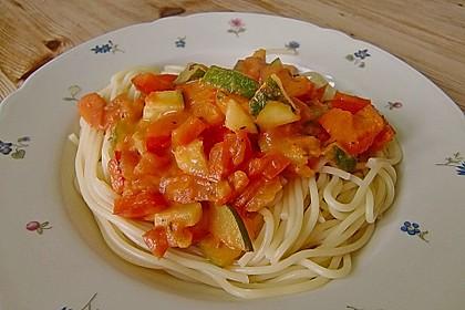 Scharfe Gemüse - Spaghetti