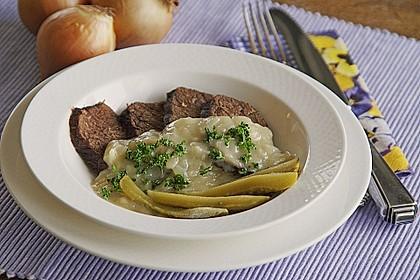 Rindfleisch mit Zwiebelsoße Westfälische Art 1