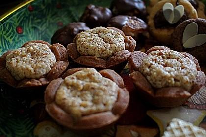Blumen - Kekse mit Haselnussfülle 5