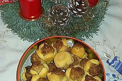 Blumen - Kekse mit Haselnussfülle 23
