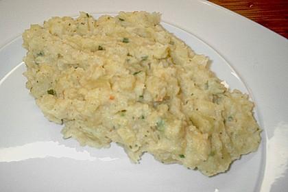 Kartoffelpüree mit Knoblauch und Kräutern 14