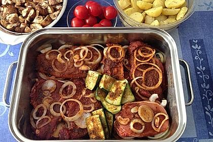 Eingelegtes Fleisch für den Grill 3