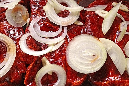 Eingelegtes Fleisch für den Grill 1