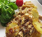 Schnelle Thunfisch - Bratkartoffeln