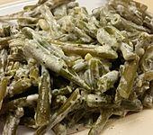 Gestovte grüne Bohnen