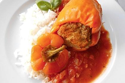 Gefüllte Paprika aus dem Schnellkochtopf