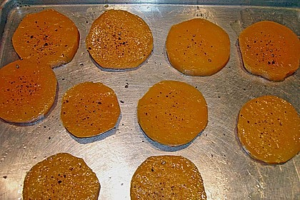 Gebackener Butternuss - Kürbis mit pikanter Zimtkruste 20