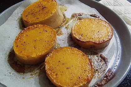 Gebackener Butternuss - Kürbis mit pikanter Zimtkruste 22
