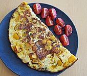 Pikantes Kürbis - Garnelen - Omelette