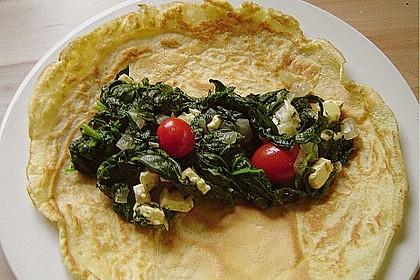 Chrissis gefüllte Spinat - Pfannkuchen 5