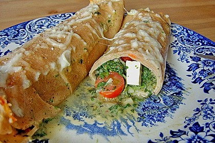 Chrissis gefüllte Spinat - Pfannkuchen 10