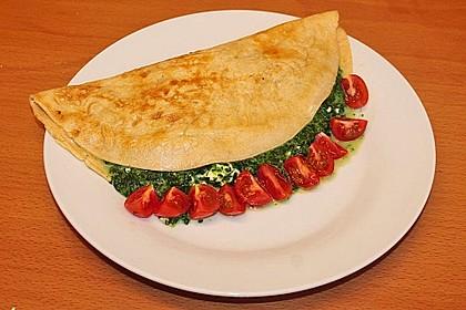 Chrissis gefüllte Spinat - Pfannkuchen 11