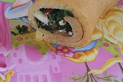 Chrissis gefüllte Spinat - Pfannkuchen 4