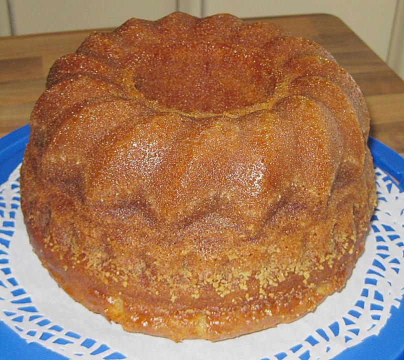 Schoko-Mandel-Kuchen mit Rum Reine de Saba, das