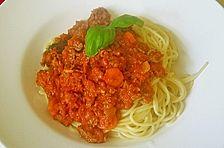Spaghetti mit Hackfleisch - Bolognese