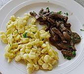 Rindergeschnetzeltes an Johannisbeer - Senfsauce (Bild)