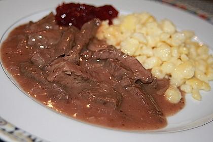 Rindergeschnetzeltes an Johannisbeer - Senfsauce 4