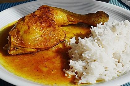 Hähnchen - Curry mit Apfelsoße 3