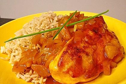 Hähnchen - Curry mit Apfelsoße 2